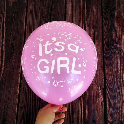 12 Inch Pink It's A Girl Latex Balloon (Pack of 10) - Online Party Supplies