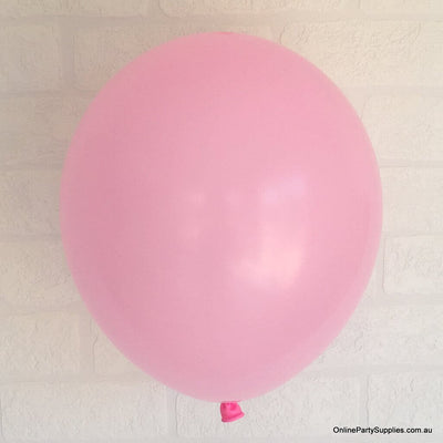 Online Party Supplies 12 inch 3.2g thickened pink colour latex balloon pack of 10