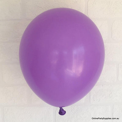 Online Party Supplies 12 inch 3.2g thickened purple colour latex balloon pack of 10