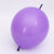 "12"" Latex Linking Balloon Pack of 5 - Purple"