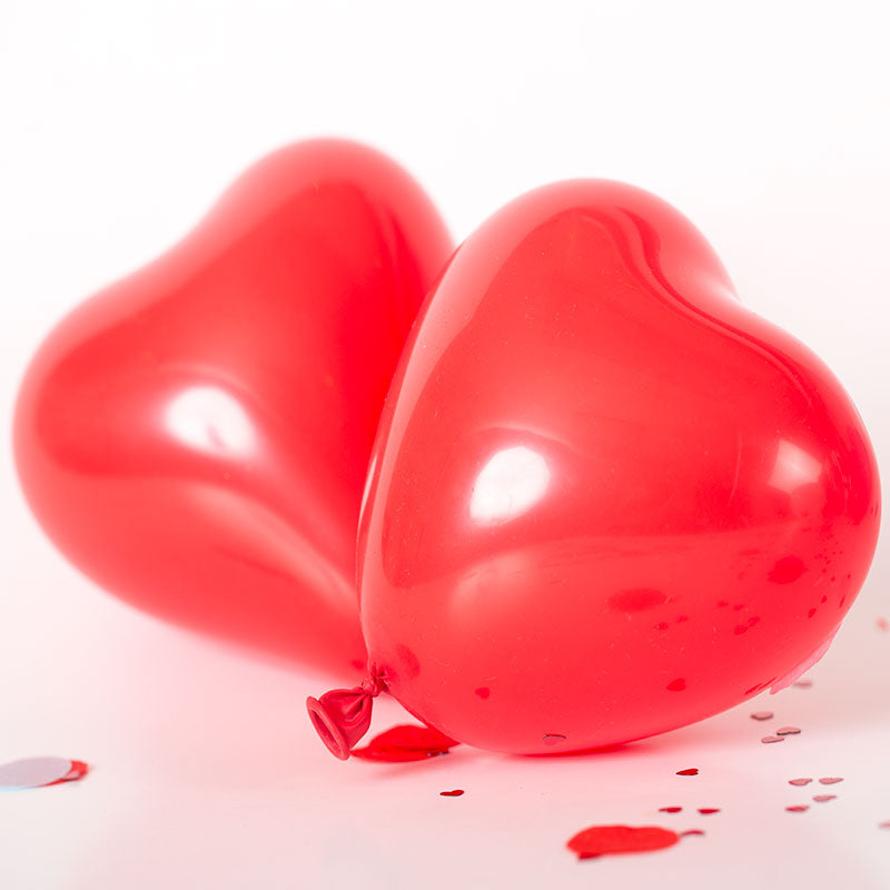 "12"" Heart Latex Balloon 10 Pack - Red"