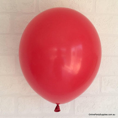 Online Party Supplies 12 inch 3.2g thickened red colour latex balloon pack of 10