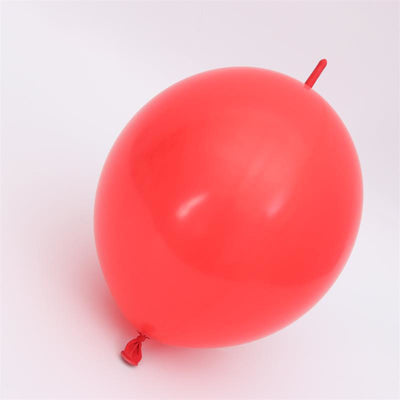 Online Party Supplies 12 Inch 2.8g Thickened Helium Quality Red Linking Balloons