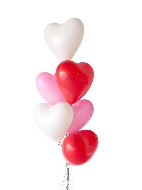 12 Inch Helium Quality Red Pink White Love Heart Balloon Bouquet - Wedding Party Decorations