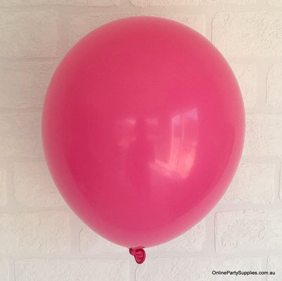 Online Party Supplies 12 inch 3.2g thickened rose red colour latex balloon pack of 10