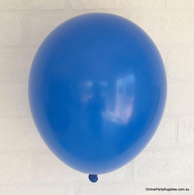 Online Party Supplies 12 inch 3.2g thickened royal blue colour latex balloon pack of 10