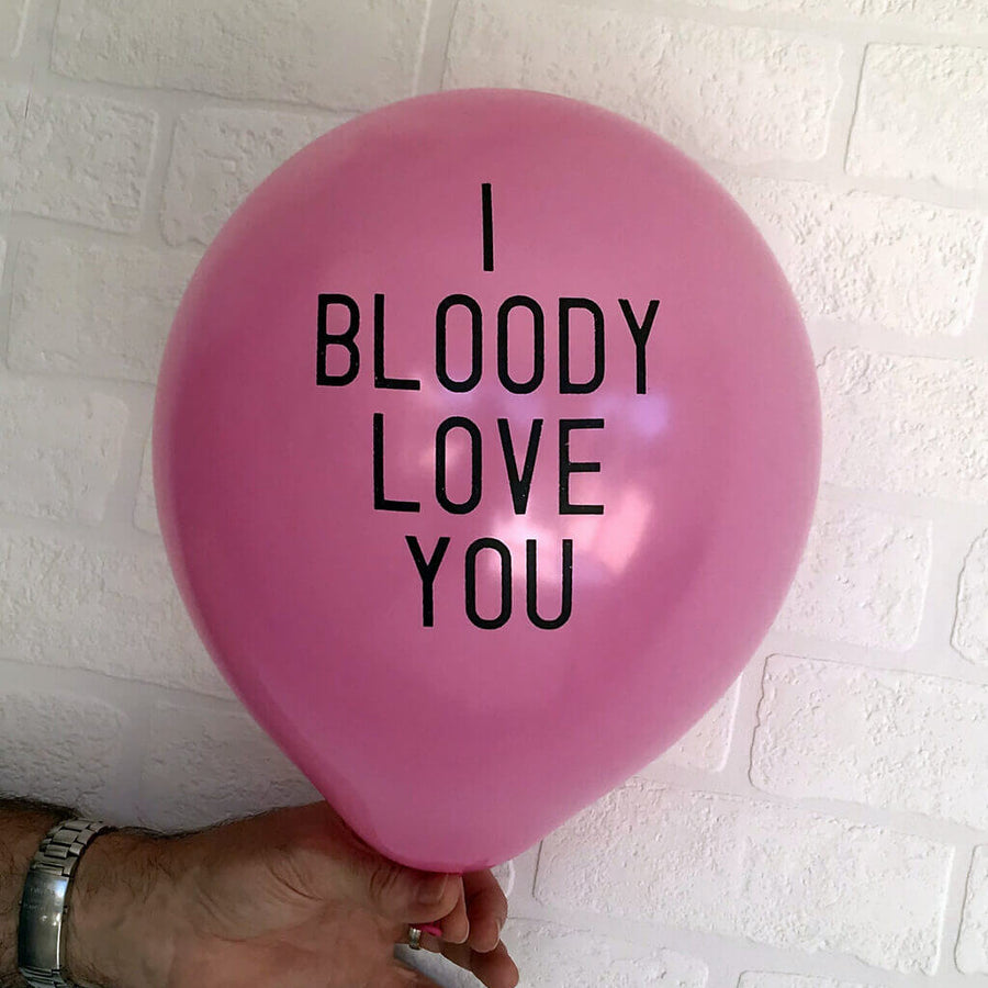 "12"" Online Party Supplies I Bloody Love You Adult Party Latex Balloon"