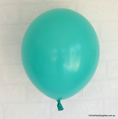 Online Party Supplies 12 inch 3.2g thickened turquoise colour latex balloon pack of 10