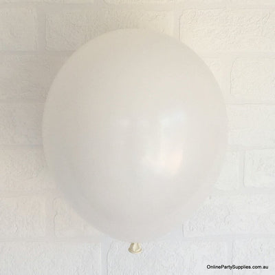 Online Party Supplies 12 inch 3.2g thickened white colour latex balloon pack of 10
