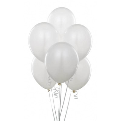"12"" Online Party Supplies White Wedding Bridal Shower Latex Balloons (Pack of 10)"