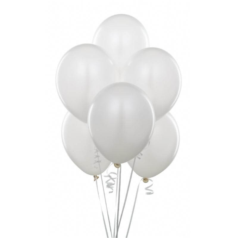 "12"" White Wedding Bridal Shower Latex Balloons (Pack of 10)"