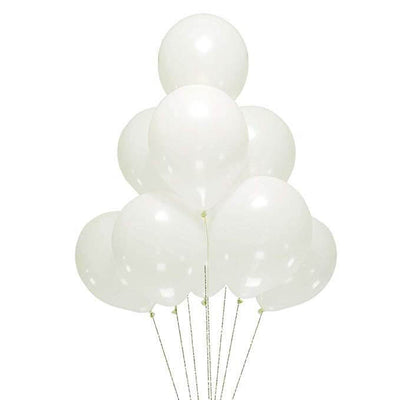 "12"" Online Party Supplies White Pearl Wedding Bridal Shower Latex Balloons (Pack of 10)"
