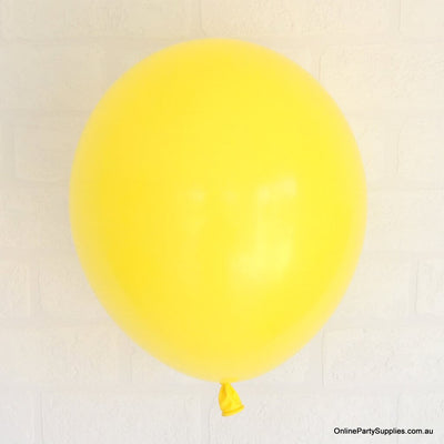Online Party Supplies 12 inch 3.2g thickened yellow colour latex balloon pack of 10
