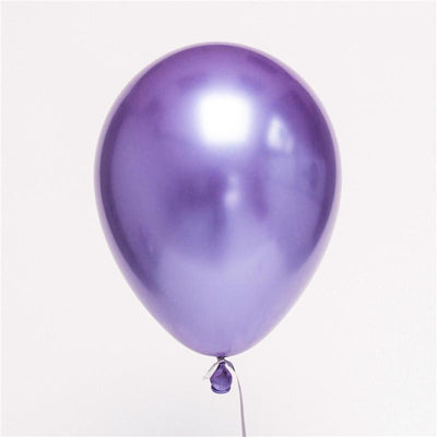 12'' Premium Metallic Chrome Latex Balloons (Pack of 6) - Online Party Supplies