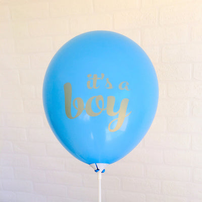 12 inch blue it's a boy latex balloon for baby shower, pregnancy announcement, new baby party