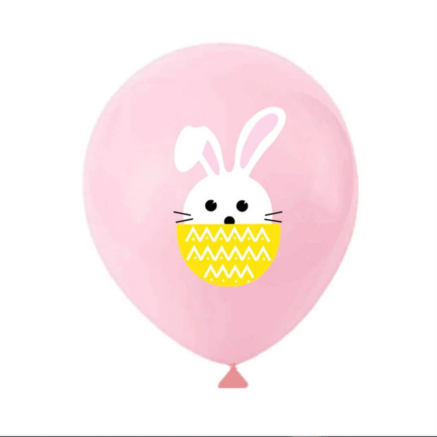 12 Inch Little Easter Bunny Rabbit Latex Balloon Pack of 10 - Easter Themed Party Supplies, Accessories, and Decorations