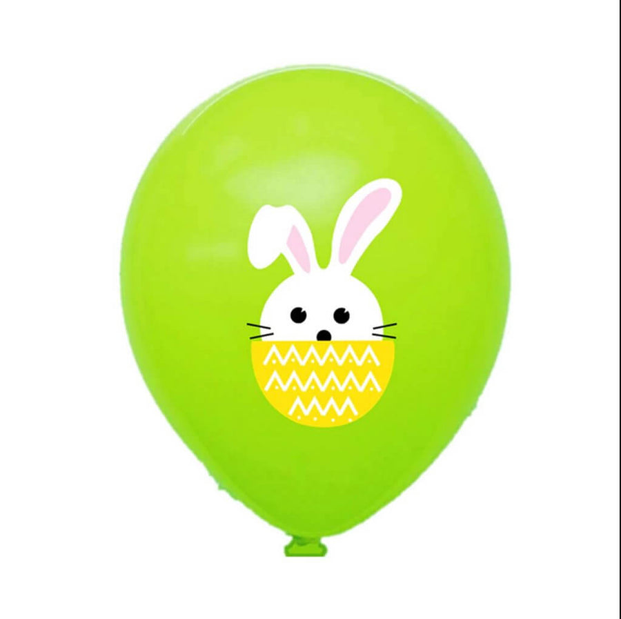 12 Inch Little Easter Bunny Rabbit Green Latex Balloon Pack of 10 - Easter Themed Party Supplies, Accessories, and Decorations