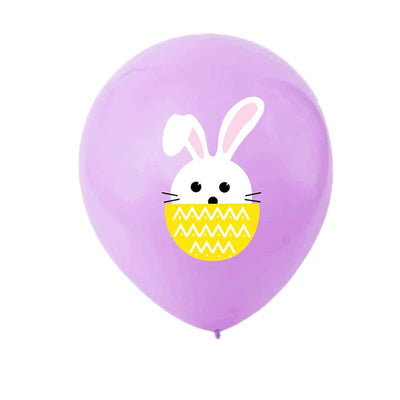 12 Inch Little Easter Bunny Rabbit Baby Light Purple Latex Balloon Pack of 10 - Easter Themed Party Supplies, Accessories, and Decorations