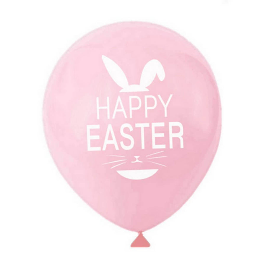"12"" Happy Easter Latex Balloon Pack of 10 - Easter Themed Party Decorations"