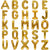 40cm Gold Alphabet A-Z Letter Air-Filled Foil Balloons