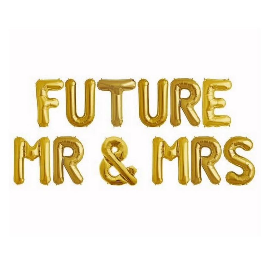 16 Inch Gold 'FUTURE MR & MRS' Foil Balloon Banner