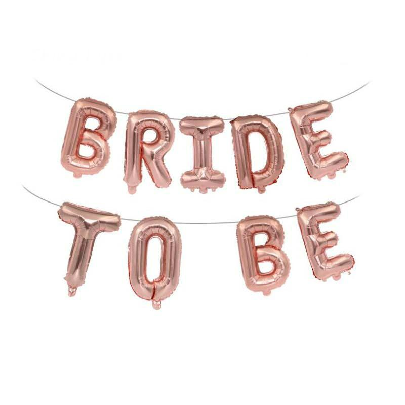16 Inch Rose Gold BRIDE TO BE Foil Balloon Banner - Online Party Supplies
