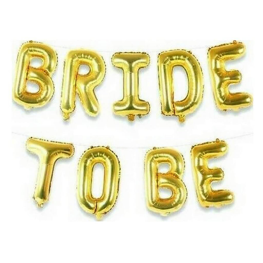 16 Inch Gold BRIDE TO BE Foil Balloon Banner