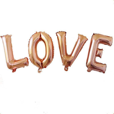 40cm Online Party Supplies Rose Gold 'LOVE' Foil Balloon Banner