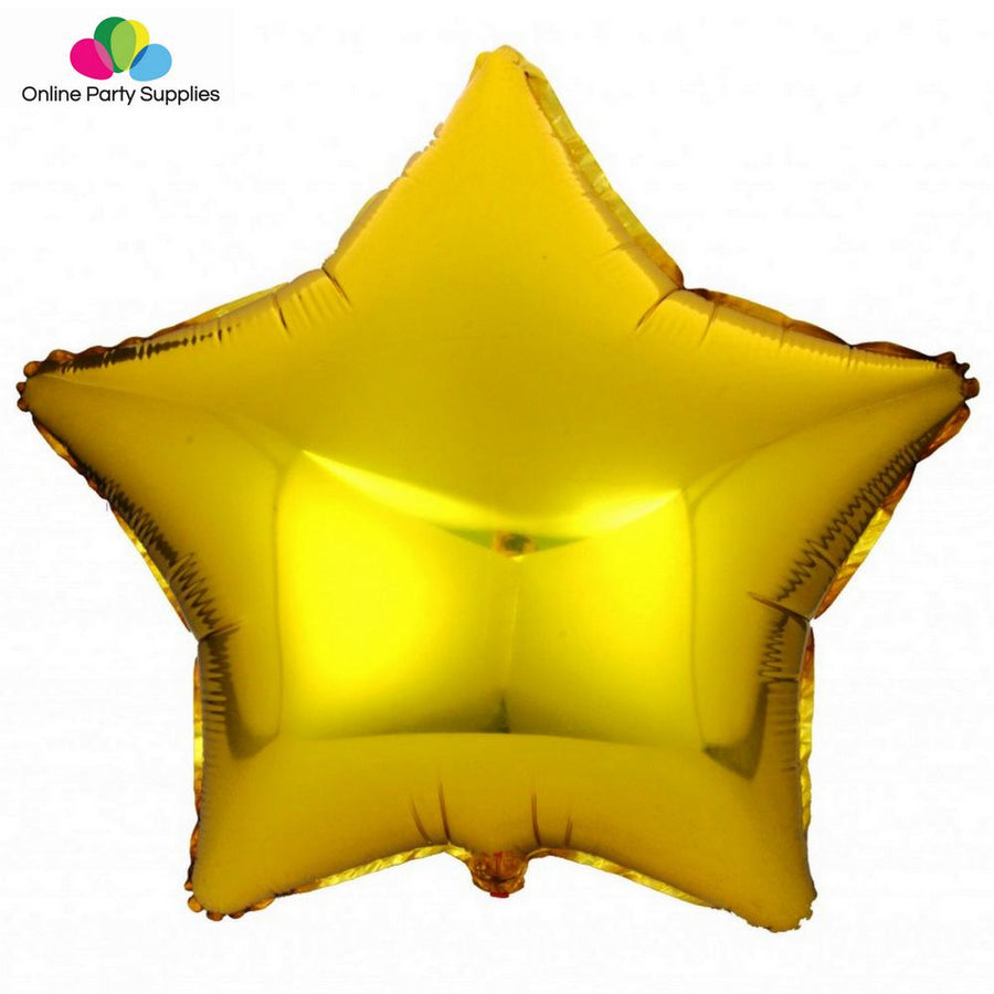 18 Inch Gold Star Foil Balloon - Online Party Supplies