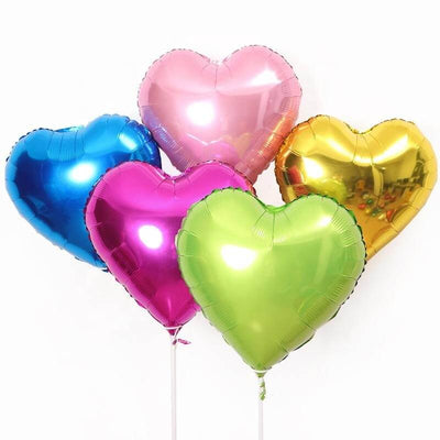Online Party Supplies 18 Inch Heart Shaped Foil Party Balloon bouquet