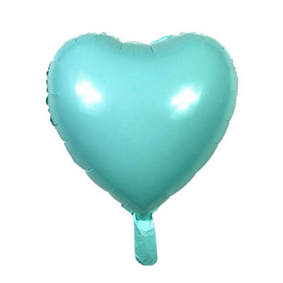 "18"" Online Party Supplies Pastel Blue Candy Macaron Heart Shaped Foil Balloon"