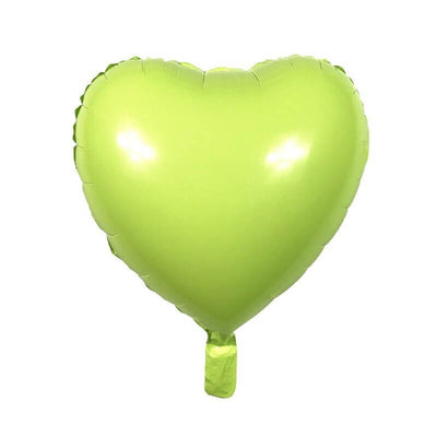 "18"" Online Party Supplies Pastel Green Candy Macaron Heart Shaped Foil Balloon"