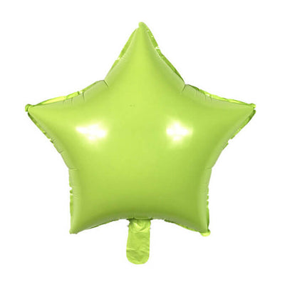 "18"" Online Party Supplies Pastel Green Candy Macaron Star Shaped Foil Balloon"