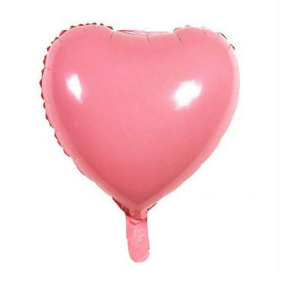 "18"" Online Party Supplies Pastel Pink Candy Macaron Heart Shaped Foil Balloon"