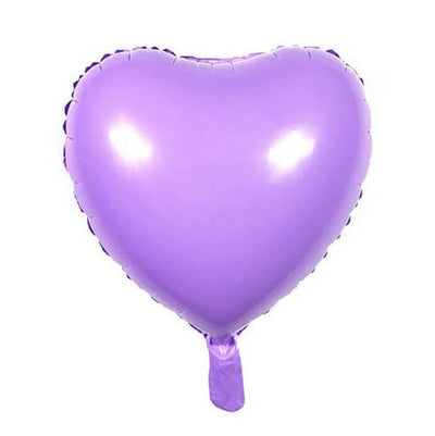 "18"" Online Party Supplies Pastel Lilac Purple Candy Macaron Heart Shaped Foil Balloon"