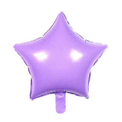 "18"" Online Party Supplies Pastel Lilac Purple Candy Macaron Star Shaped Foil Balloon"