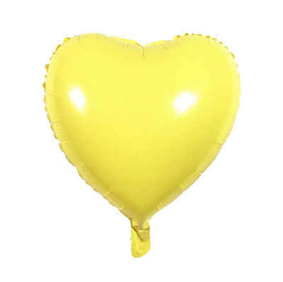 "18"" Online Party Supplies Pastel Yellow Candy Macaron Heart Shaped Foil Balloon"