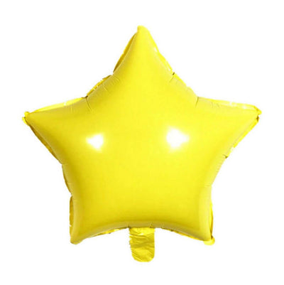 "18"" Online Party Supplies Pastel Yellow Candy Macaron Star Shaped Foil Balloon"