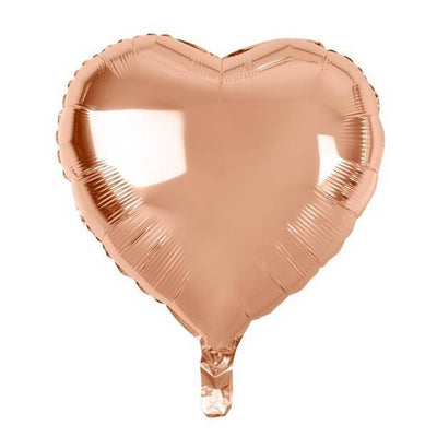 Online Party Supplies 18 inch rose gold foil heart shaped party balloon