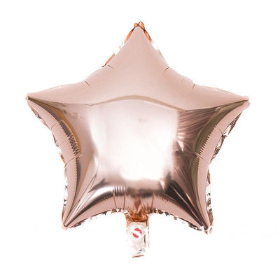 18 Inch Rose Gold Star Shaped Foil Balloon - Online Party Supplies