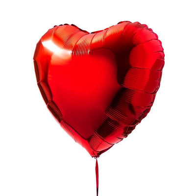 "18"" Red Heart Foil Balloon Bouquet (Pack of 10pcs) - Online Party Supplies"