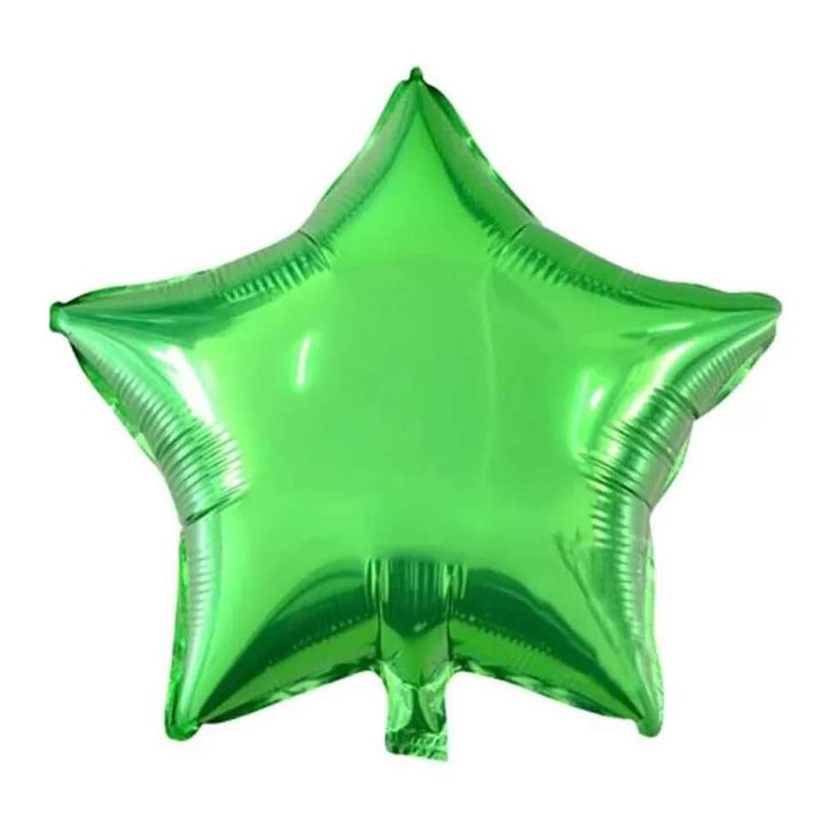 9 Inch Green Star Foil Balloon Bundle (Pack of 10)
