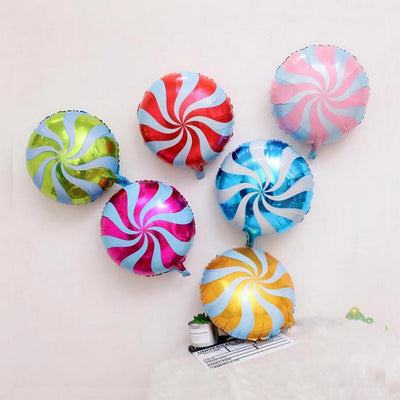 "18"" Online Party Supplies Multicoloured Swirl Sweet Candy Lollipop Balloon Candyland Buffet Party Theme"