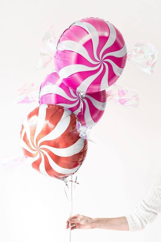 "18"" Multicoloured Swirl Sweet Candy Lollipop Balloon"