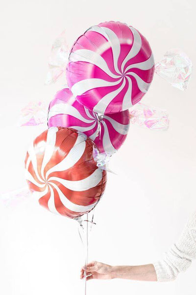 "18"" Online Party Supplies Multicoloured Swirl Sweet Candy Lollipop Balloon Candyland Party Theme"
