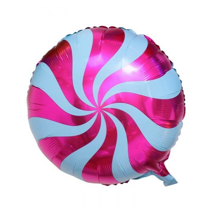"18"" Online Party Supplies Purple Swirl Sweet Candy Lollipop Balloon Candyland Party Theme"