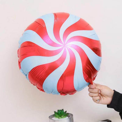 "18"" Online Party Supplies red Swirl Sweet Candy Lollipop Balloon Candyland buffet Party Theme"
