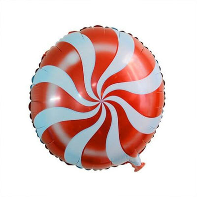 "18"" Red Swirl Lollipop Foil Balloon"