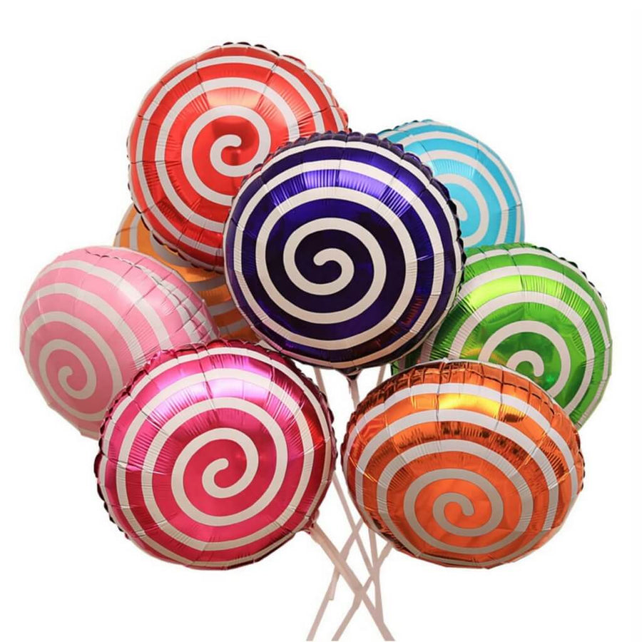 "18"" Online Party Supplies spiral red Sweet Candy Lollipop Balloon Candyland Buffet Party Theme"