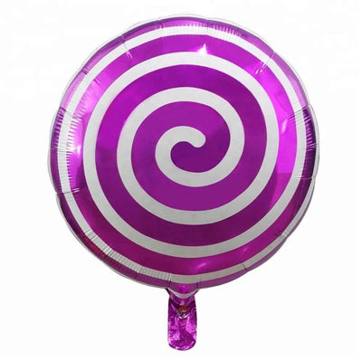 "18"" Online Party Supplies spiral purple Sweet Candy Lollipop Balloon Candyland Buffet Party Theme"
